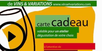 Carte Cadeau 1 Atelier 1 Vignoble