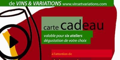 Carte Cadeau 6 Ateliers 6 Vignobles