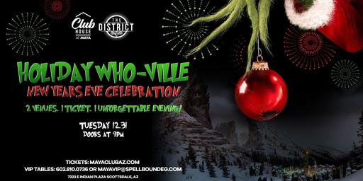 HOLIDAY WHO-VILLE NEW YEARS EVE CELEBRATION