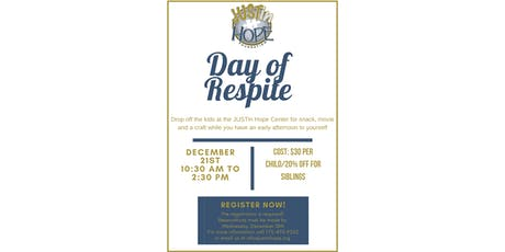 Day of Respite at JUSTin Hope tickets