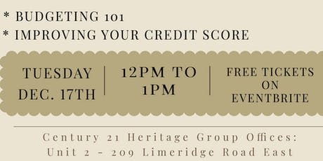 Lunch and Learn: Budgeting 101 | Improving Your Credit Score tickets