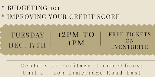 Lunch and Learn: Budgeting 101 | Improving Your Credit Score