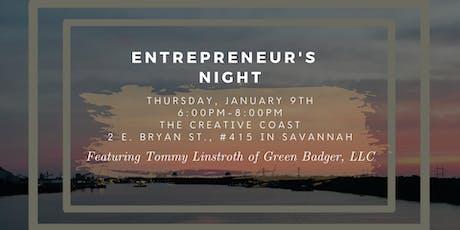 Entrepreneur's Night - Tommy Linstroth of Green Badger, LLC tickets