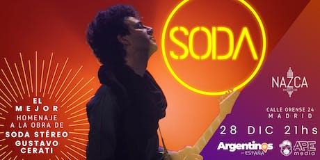 SODA en MADRID by Caio Arancio entradas