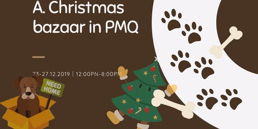 A Christmas bazaar in PMQ