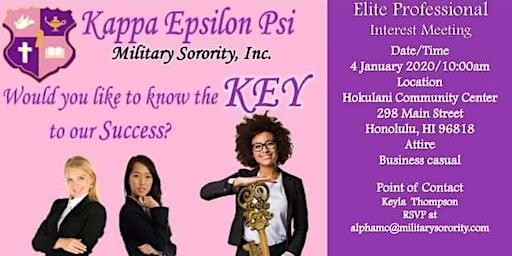 Honolulu Alpha Social - Come Chat with Kappa Epsilon Psi Military Sorority