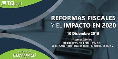 """Conferencia Gratuita Toluca """"Reformas fiscales 2020"""" entradas"""