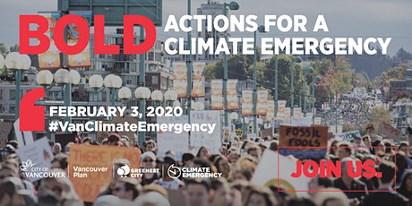 BOLD ACTIONS FOR A CLIMATE EMERGENCY tickets