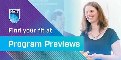 NAIT Program Preview – JR Shaw School of Business