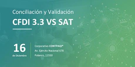 Conciliación y Validación CFDI 3.3 vs SAT entradas