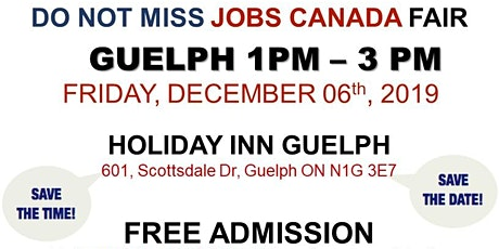 Guelph Job Fair – December 06th, 2019 tickets