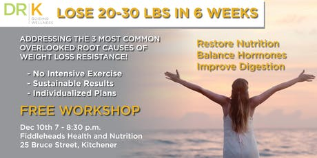 Metabolic Reset: Addressing 3 Overlooked Causes of Weight Loss Resistance tickets