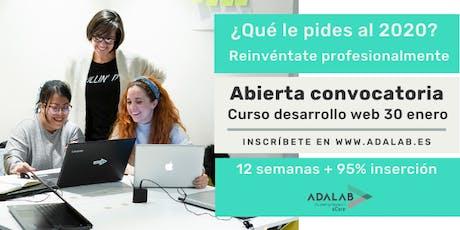 Pruebas presenciales proceso de selección Adalab  12/12/19 a las 15:00 entradas