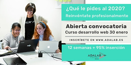 Pruebas presenciales proceso de selección Adalab  19/12/19 a las 15:00 entradas