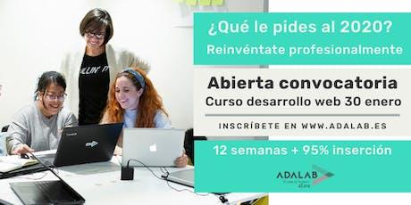 Pruebas presenciales proceso de selección Adalab  03/01/20 a las 10:00 entradas