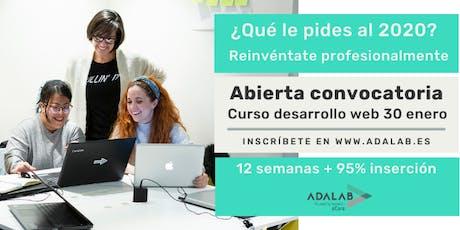 Pruebas presenciales proceso de selección Adalab  09/01/20 a las 15:00 entradas