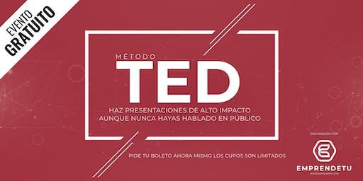 Método TED Talk: Aprende a hablar en público como experto aunque nunca te hayas parado frente a una audiencia.