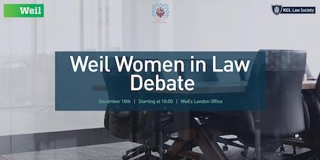 Weil Women in Law Debate tickets
