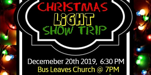 Light Show Bus Trip. Bus Leaves Newark, NJ and Travels to Yardley, PA for one of a kind light show experience.