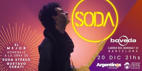 SODA en BARCELONA by Caio Arancio entradas