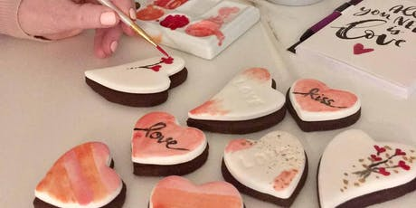 Hand painted Valentine Cookies tickets