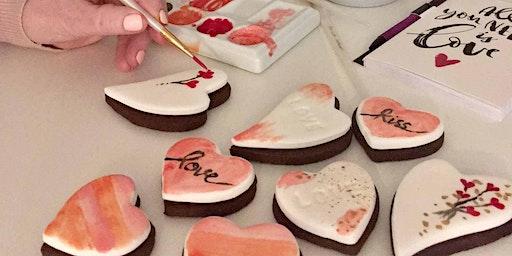 Hand painted Valentine Cookies