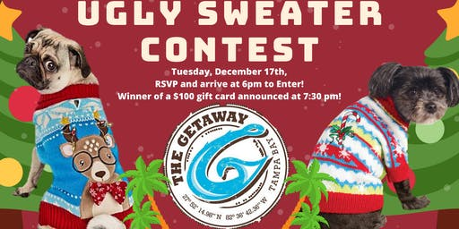 Puppy Ugly Sweater Contest