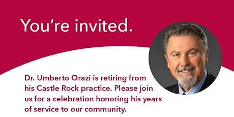 Dr. Orazi's Retirement Reception tickets