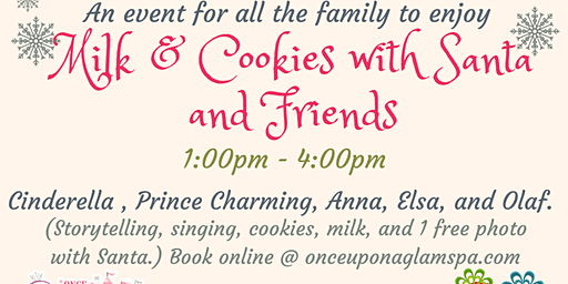 Milk & Cookies with Santa and Friends