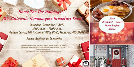 Maryland Statewide Home-Buyers Breakfast Event - Home for the Holidays December 2019