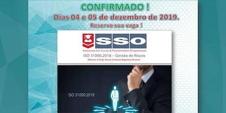 CURSO CONFIRMADO ! ISO 31000, 2018 - GESTÃO DE RISCOS ingressos
