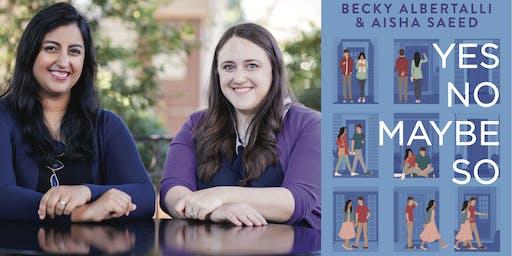 Becky Albertalli and Aisha Saeed Book Launch at DHS Performing Arts Center!