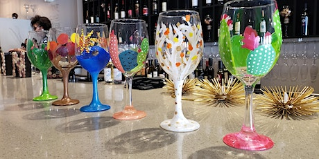 Jolly Wine Glass Painting Class at Peacock Wine Ba tickets