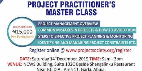 Project Management Master Class & Induction tickets