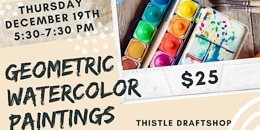 Art & Craft Series: Geometric Watercolor Paintings