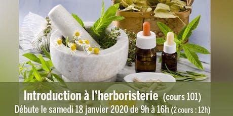 Introduction à l'herboristerie (cours 101) tickets