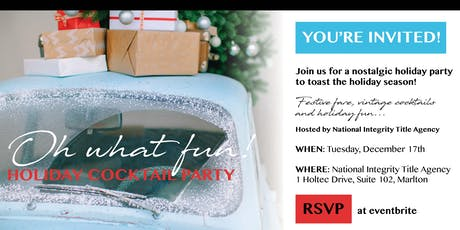 National Integrity Title Agency Holiday Party tickets