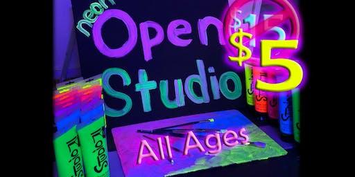 ONE TIME sale NEON open studio