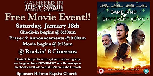 Same Kind of Different as Me - Free Movie Event
