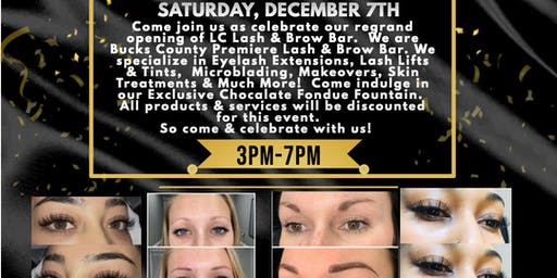 LC Lash & Brow Bar Regrand Opening Party!