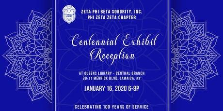 Centennial Exhibit Reception tickets
