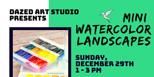 Sunday Sessions: Mini Watercolor Landscapes