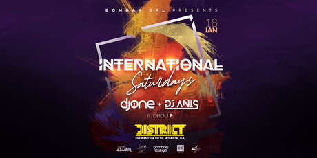 Bombay Lounge: International Saturdays | 01.18.20 tickets