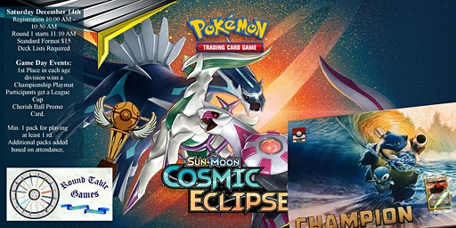 Pokemon Sun & Moon Cosmic Eclipse League Cup
