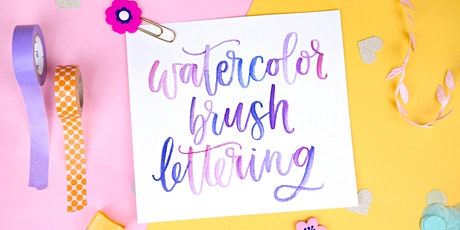 Learn Watercolor Brush Lettering tickets