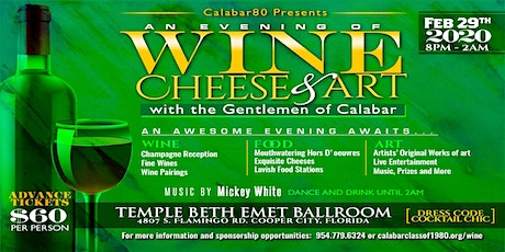 An Evening of Wine, Cheese and Art with the Gentlemen of Calabar tickets