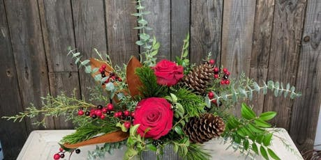 Blooms & Bubbly - Holiday Centerpiece Workshop tickets