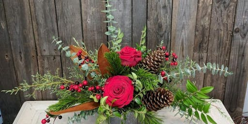 Blooms & Bubbly - Holiday Centerpiece Workshop