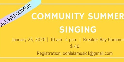 Community singing workshop. Authentic songs from Madagascar, rhythm&harmony