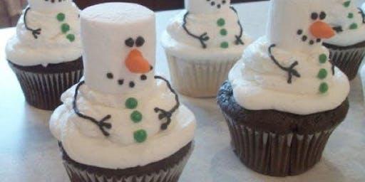 Kid's Christmas Cupcake Decorating